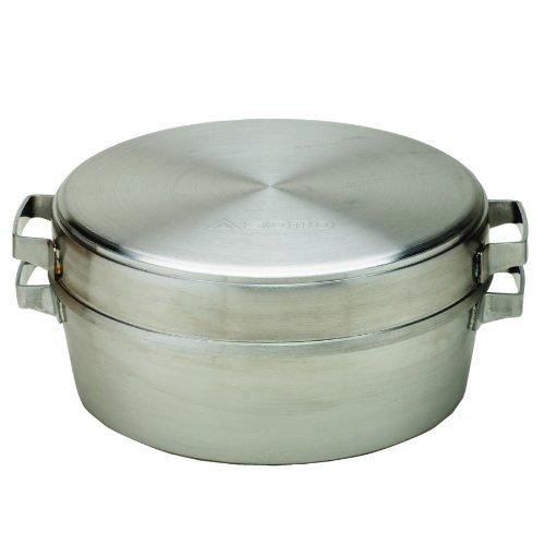 SOTO 新富士バーナーステンレスダッチオーブン 10インチデュアルST-910DLご家庭のガスコンロでダッチオーブンが使える!フタを逆さにするとスキレットとして使用可能幅330×奥行275×高さ124mm