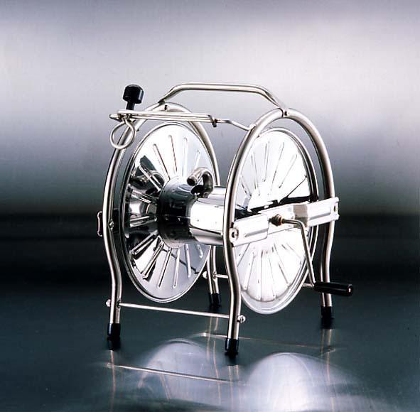 【頑張って送料無料!】グリーンライフ ステンレスホースリール(ドラム) 20-25m巻用SH-S