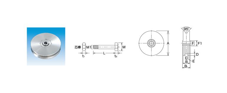 MM ステンレス(SUS304)重量車V型(枠無)φ150mm JRVS-150