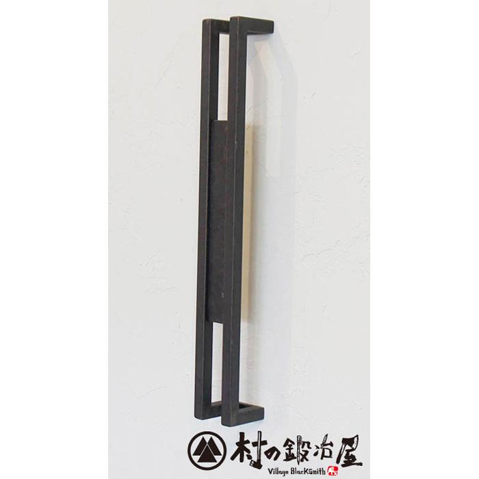 杉山製作所 FIT アイアンワークムクドアハンドルD片面タイプ400MUK-1456-S400SBサンドブラック塗装(防錆処理)タイプ高さ400mm日本製メーカー直送のため代引不可