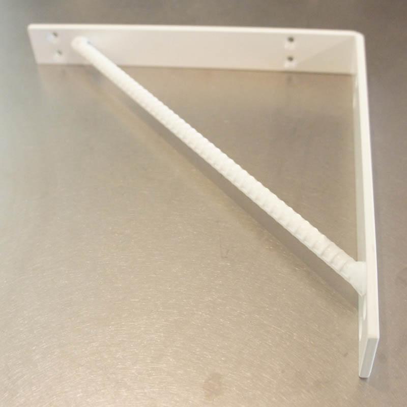 杉山製作所 FIT アイアンワークムクブラケットB 2個セットスノーホワイト MUK-1465-SW白いおしゃれ棚受け!奥行250×幅32×高さ250mm日本製メーカー直送のため代引不可