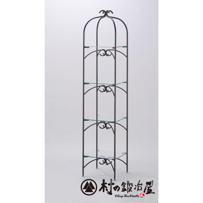 杉山製作所 KEBIN アイアンワークカナリアラックR-2003日本製メーカー直送のため代引不可鳥かごを想起させるガラスラック