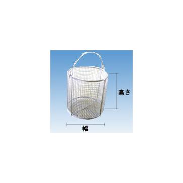MM ステンレス(SUS304)洗浄カゴ 丸型400×400×300mm(ワイヤーピッチ5mm) WBM-4030