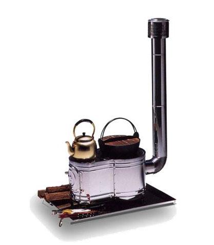 ステンレス製 時計型薪ストーブセットASS-60 ※ストーブ台や鍋等は付属しておりません【頑張って送料無料!】