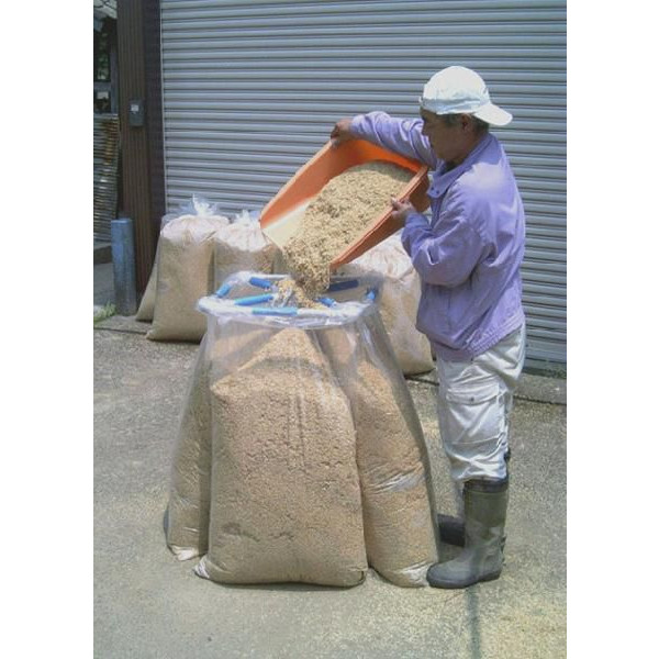 【受注生産4ヶ月】【頑張って送料無料!】アルミ もみがらスタンド籾殻の袋入れが簡単
