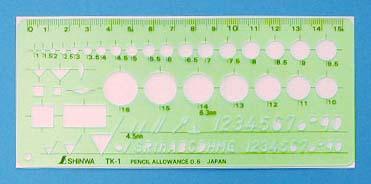 物品 綺麗に描けます 製図の時にあると便利 66027 シンワ テンプレート仕上げ記号定規 ネコポス配送 通販 TK-1 沖縄 離島でも頑張って送料無料