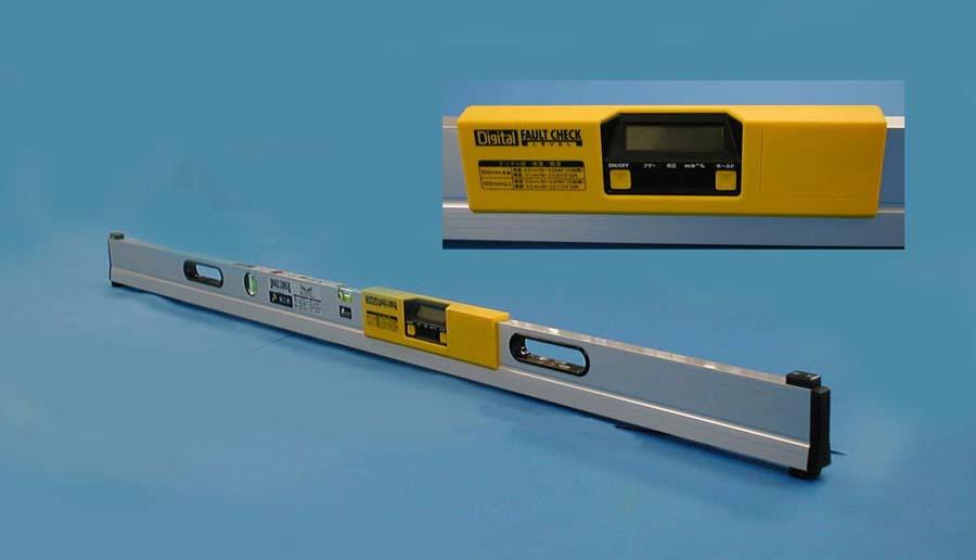 シンワ 品確法対応 デジタルフォルトチェックレベル 1,500mm施工用 76441
