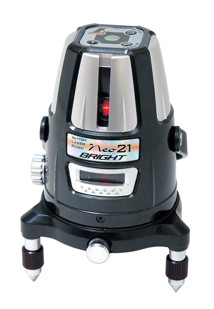 シンワ レーザー墨出し器 レーザーロボNeo21 BRIGHT 77354縦・横・地墨