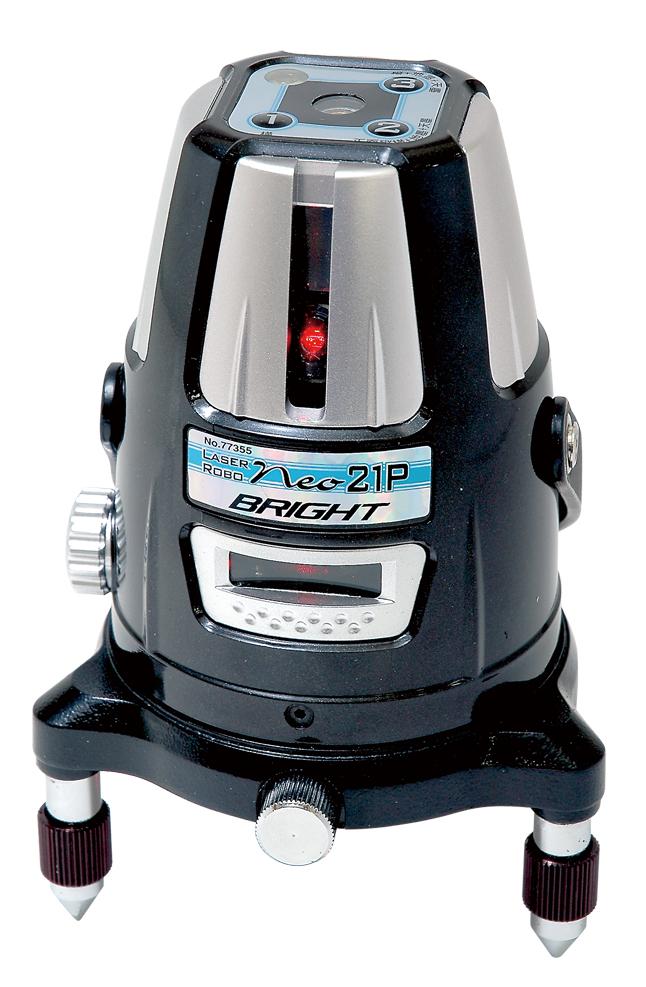 シンワ レーザー墨出し器 レーザーロボNeo21P BRIGHT 77355縦・横・天墨・地墨