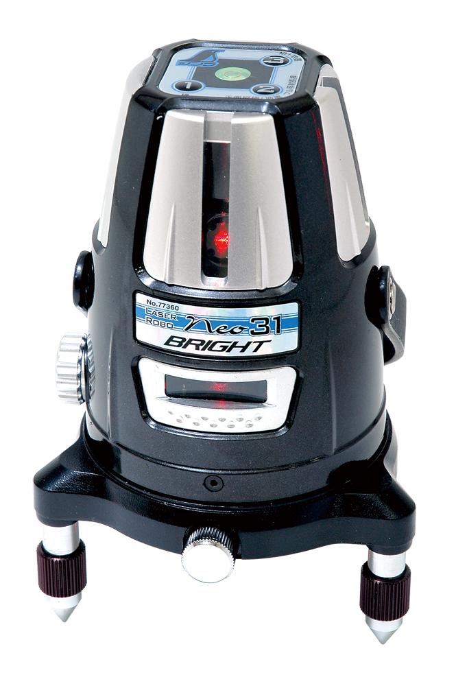 シンワ レーザー墨出し器 レーザーロボNeo31 BRIGHT 77360縦・横・大矩・地墨