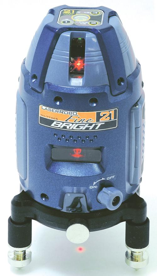 シンワ レーザー墨出し器 レーザーロボFine21 BRIGHT 77467縦・横・地墨