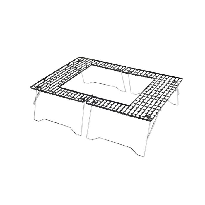 キャプテンスタッグ M-6420 ファイアグリル テーブル アウトドア キャプスタ(約):幅910×奥行650×高さ260mm