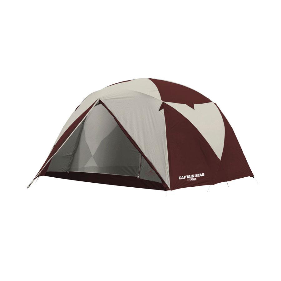 キャプテンスタッグエクスギア アルミファミリージオドーム6UV〈キャリーバッグ付〉 UA-15-6人用テント。耐久性耐風性に優れてます