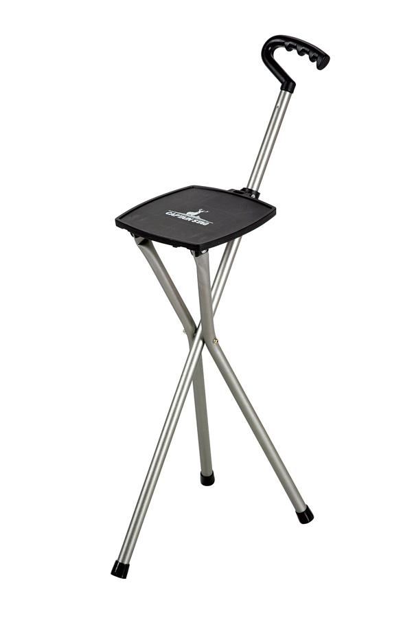 Captain stag aluminum smart tripod Chair (gun metallic) UC-1542 light and smart design. A little break