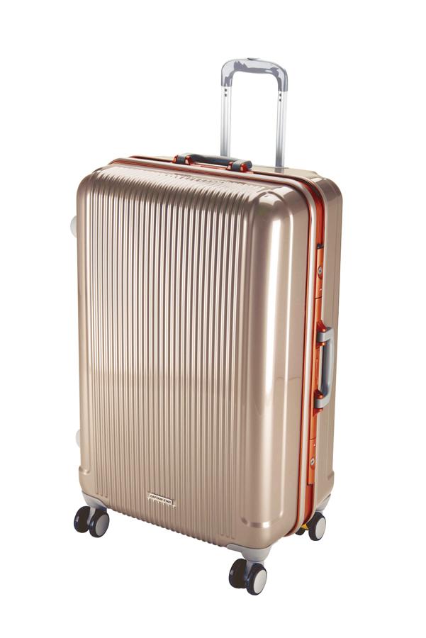 キャプテンスタッググレル トラベルスーツケース(TSAロック付きHFタイプ)(L)(シャンパンベージュ) UV-1全世界の空港で使えます!もちろんTSAロックのアメリカも!