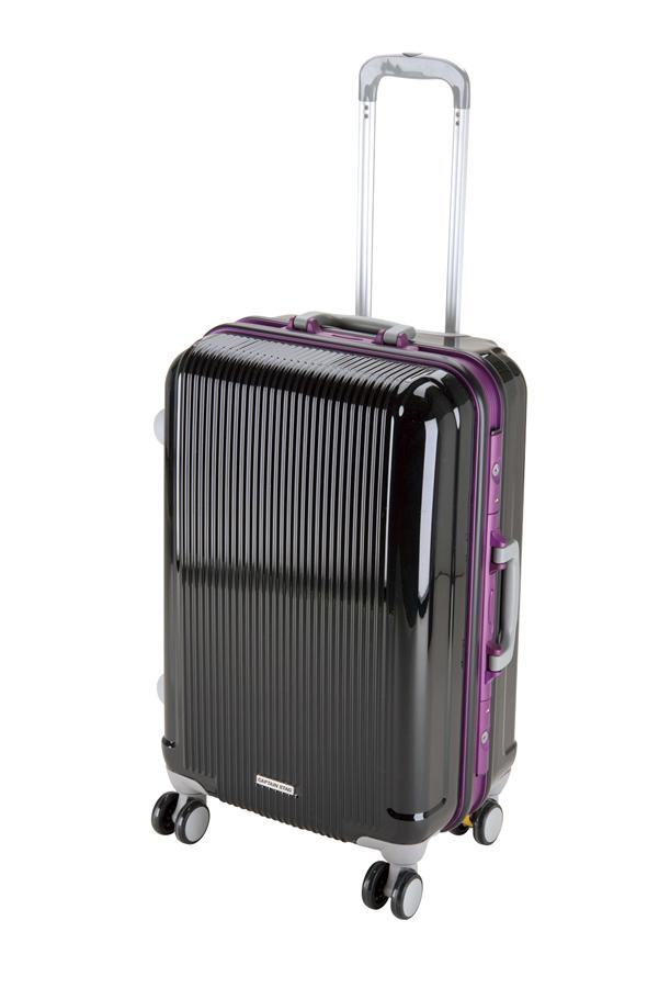 キャプテンスタッググレル トラベルスーツケース(TSAロック付きHFタイプ)(M)(ブラック) UV-11全世界の空港で使えます!もちろんTSAロックのアメリカも!