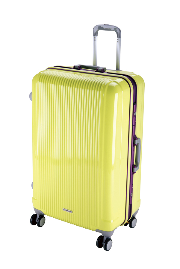 キャプテンスタッググレル トラベルスーツケース(TSAロック付きHFタイプ)(L)(アップルグリーン) UV-13全世界の空港で使えます!もちろんTSAロックのアメリカも!