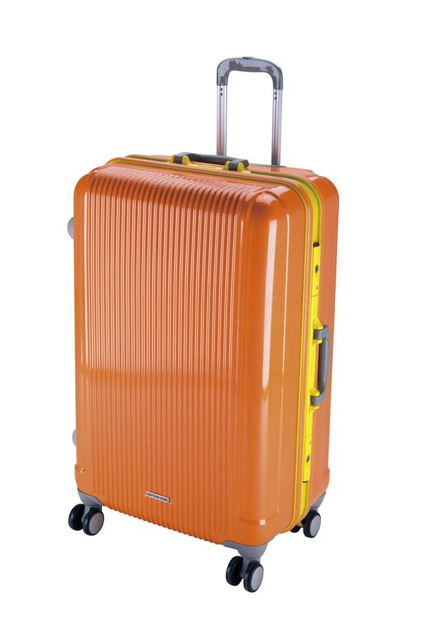キャプテンスタッググレル トラベルスーツケース(TSAロック付きHFタイプ)(L)(サンセットオレンジ) UV-19全世界の空港で使えます!もちろんTSAロックのアメリカも!