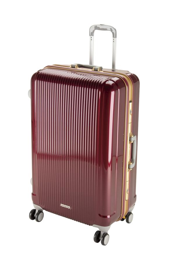 キャプテンスタッググレル トラベルスーツケース(TSAロック付きHFタイプ)(L)(ワインレッド) UV-4全世界の空港で使えます!もちろんTSAロックのアメリカも!