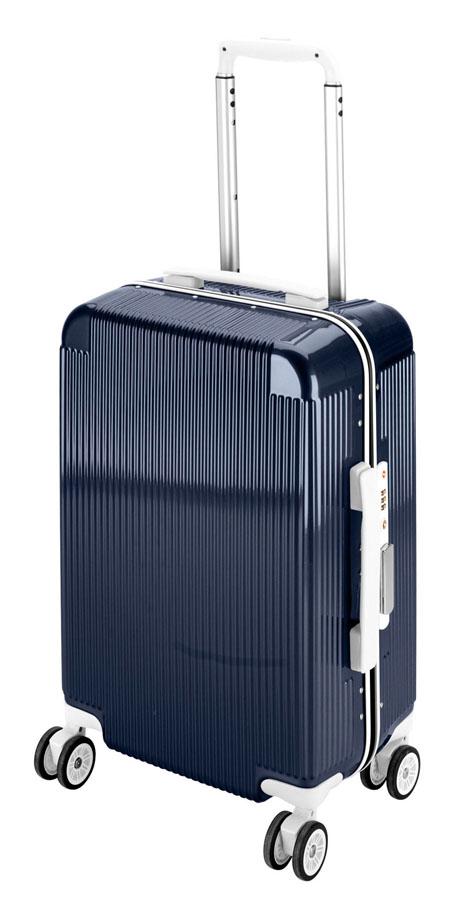 キャプテンスタッグシック トラベルスーツケース(TSAロック付きコンパクトタイプ)(ネイビー) UV-48全世界の空港で使えます!もちろんTSAロックのアメリカも!