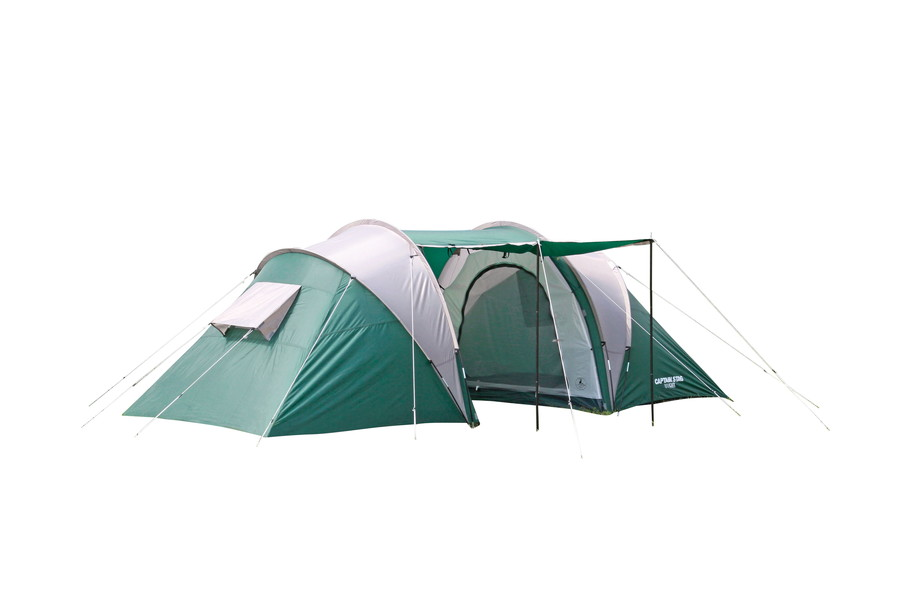 2 + 2 person 4 people for 3 room tent. Living cum luggage compartment determines two inner tent in Central double layout. Inner tent hanging easy removal  sc 1 st  Rakuten & MURANOKAJIYA | Rakuten Global Market: Captain stag CS 3 loom dome ...