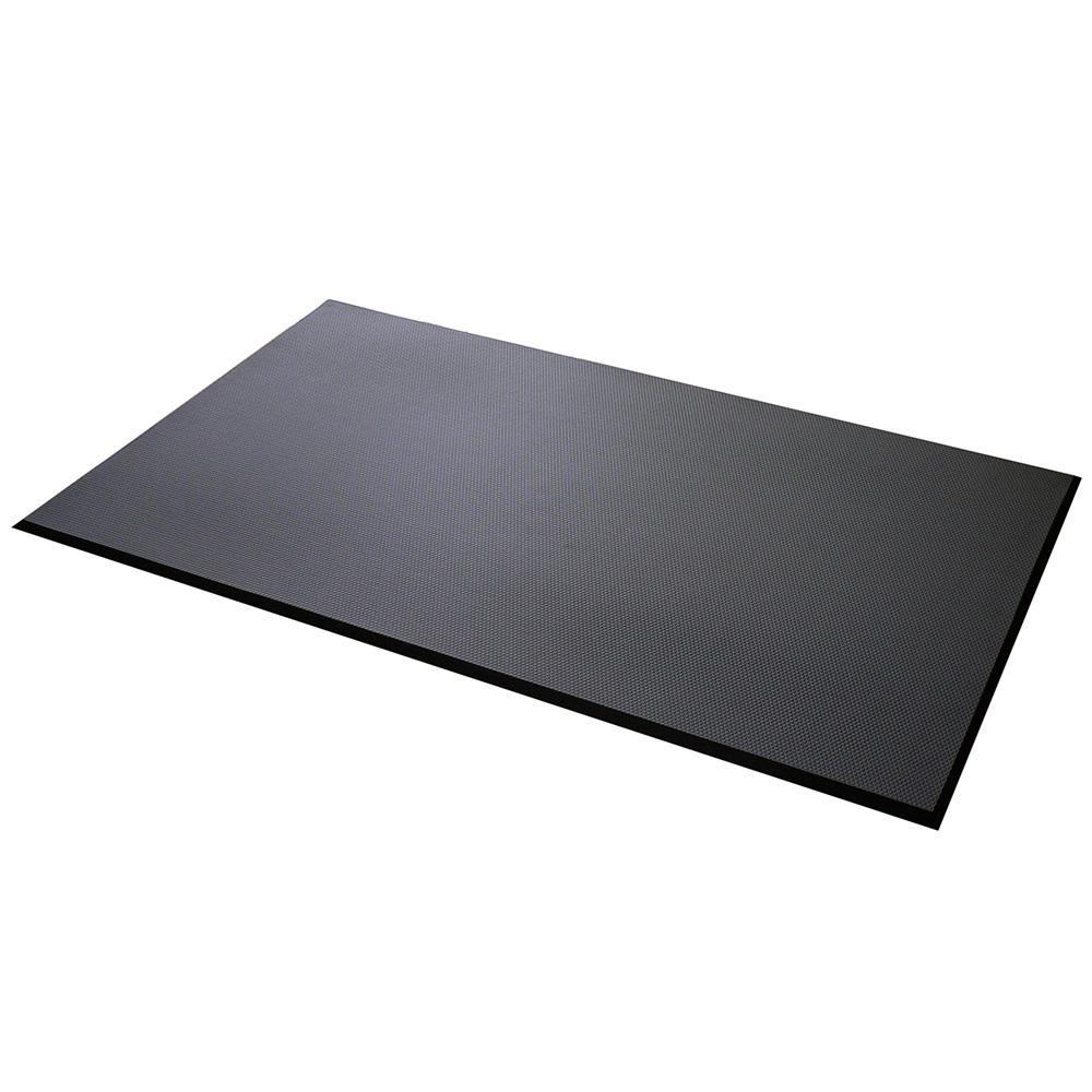 【こだわり抜いた踏み心地】足腰マット 穴なし Lサイズ ブラック(AM-03)ヒザにくる、腰にくる、背中にくる立ち仕事に。立ち作業現場の疲労感を軽減します!4968124207292