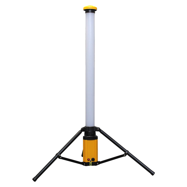 【頑張って送料無料!】アイガー充電式ポールアップライトEL 1240mmL L90B360度発光の縦型ポールライト!充電式なのでどこにでももっていけます!現場作業や内装仕事にこれ一台あればOK