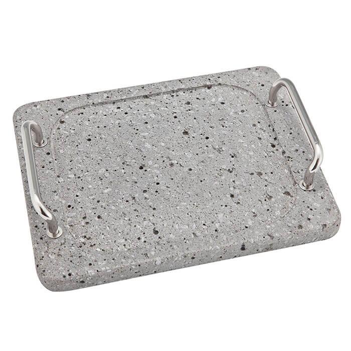 【頑張って送料無料!】溶岩石プレート(IKNG-IRON-102)【池永鉄工株式會社】富士山溶岩石の遠赤効果で食材を美味しく焼き上げます。