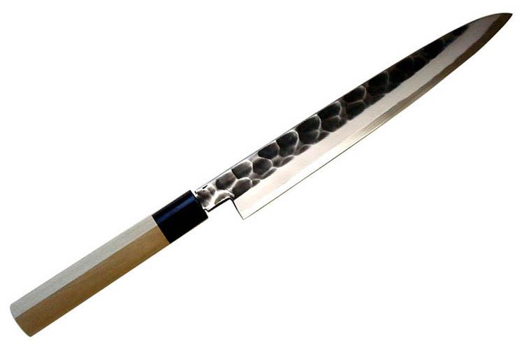 辰守作 鋼付け 黒打槌目 柳刃包丁210mm吉金刃物四代目 山本和臣作