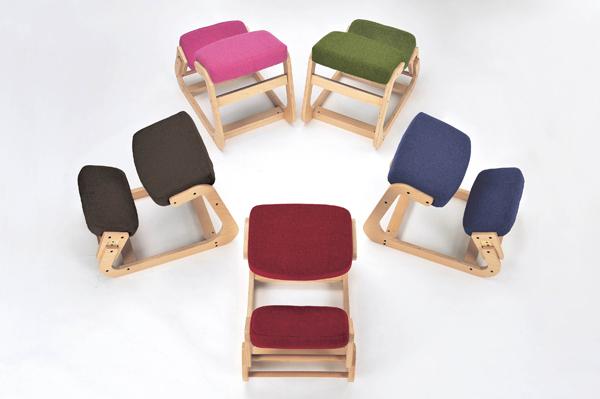 【頑張って送料無料!】KOEKI スレッドチェア SLED CHAIR(BR/BL/RD/PK/GN)座るだけで自然と正しい姿勢に。正座椅子対応身長130~180cm