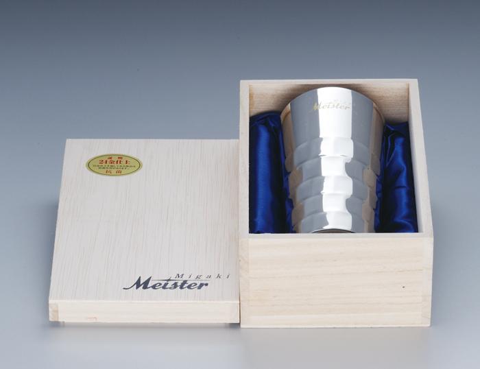 【頑張って送料無料!】Migaki Meister マイスター工房 名匠の技コリンズ 24金メッキ 1本桐箱入 collins桐クリスマスプレゼント・父の日の贈り物などビール・焼酎水割り好きな方へ 【楽ギフ_のし】