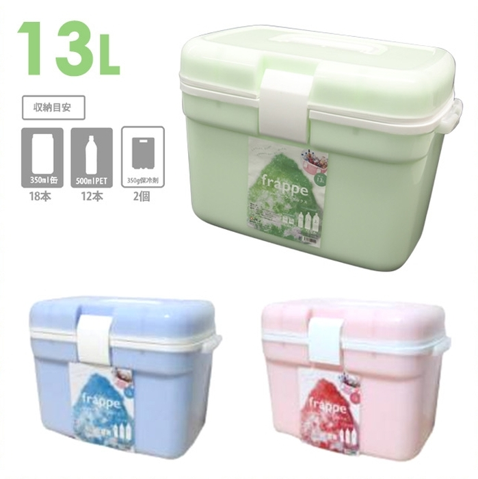 冷气设备箱刨冰冷饮13升350ml罐假如是18条,500ml塑料瓶的话,能收藏12条! 刨冰冷饮-13安心的日本制造!