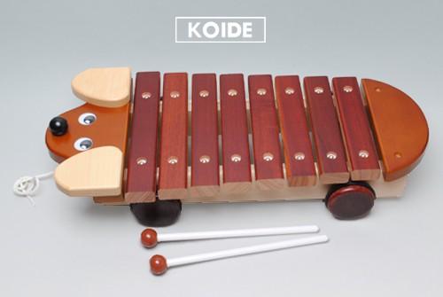 コイデ東京 日本製 知育玩具 M07 ワンちゃんシロホン安全性と知育性が高い本物志向の木のおもちゃ百貨店で販売されているおもちゃです