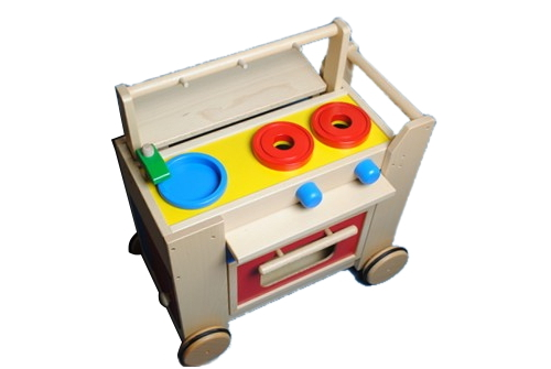 コイデ東京 日本製 知育玩具 M57 キッチンワゴン安全性と知育性が高い本物志向の木のおもちゃ百貨店で販売されているおもちゃです