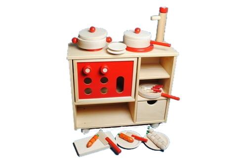 コイデ東京 日本製 知育玩具 M58 キッチンセット安全性と知育性が高い本物志向の木のおもちゃ百貨店で販売されているおもちゃです