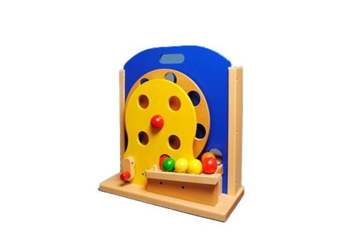 コイデ東京 日本製 知育玩具 M60 コロコロかんらんしゃ安全性と知育性が高い本物志向の木のおもちゃ百貨店で販売されているおもちゃです
