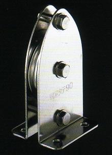 固定ブロックタテ型1車90mm(ベアリング入) K90-1【頑張って送料無料!】