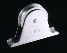 固定ブロックオープン型タテ型1車50mmステンレス製(ベアリング入)K50-09B