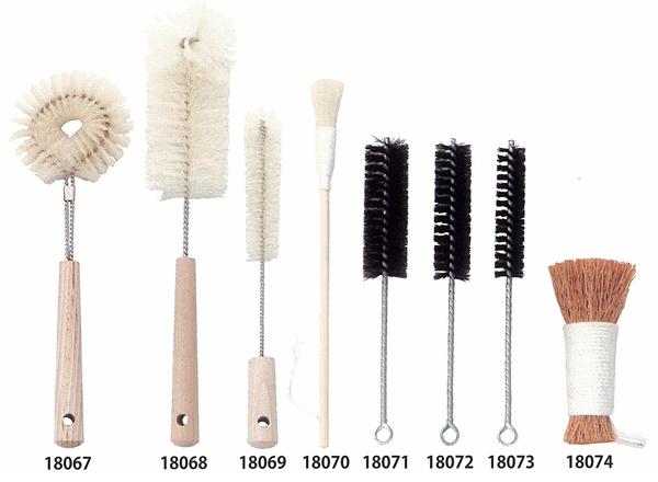 Natural Material Kitchen Brush Domestic Wooden Handle Bottle Brush Pig Hair  18070