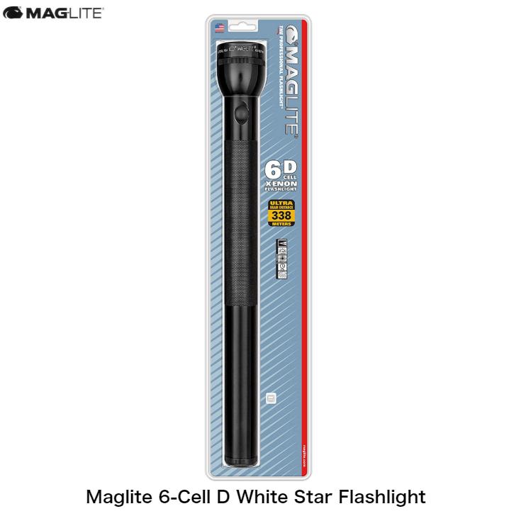 頑丈で耐久性バツグンのボディ MAGLITE マグライト 6-Cell D White Star ハンディライト 人気急上昇 Flashlight アウトドア 明るい 散歩 低廉 防災 懐中電灯
