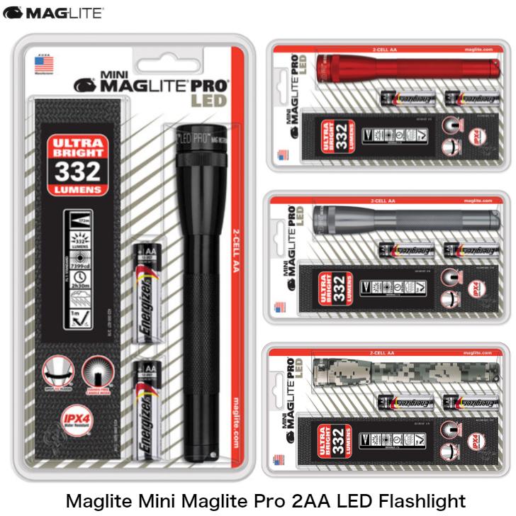 絶品 頑丈で耐久性バツグンのボディ MAGLITE マグライト Mini Maglite Pro 2AA アウトレット☆送料無料 散歩 ハンディライト 防災 懐中電灯 LED 明るい アウトドア