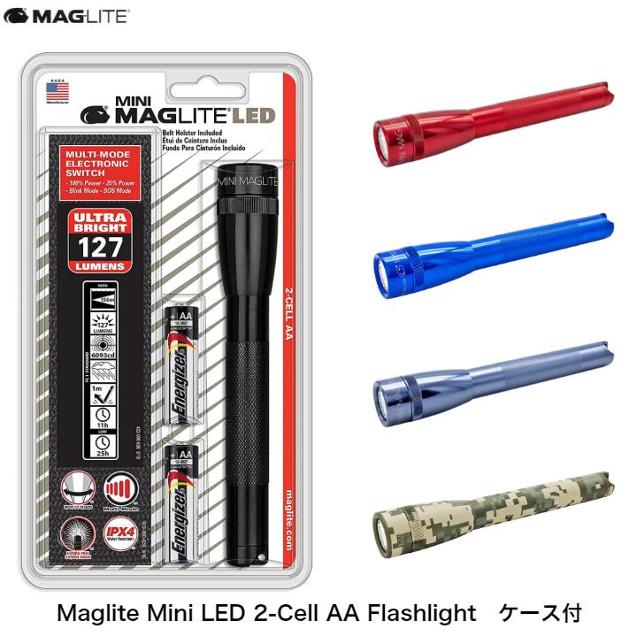 頑丈で耐久性バツグンのボディ 中古 MAGLITE マグライト オープニング 大放出セール 2CELL AA LED ミニマグライト アウトドア 防災 明るい 懐中電灯 散歩 ハンディライト