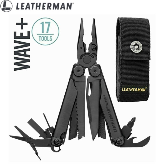 LEATHERMAN WAVE PLUS Black レザーマン ウェーブプラス ブラック マルチツール MOLLEナイロンケース付属 直輸入品