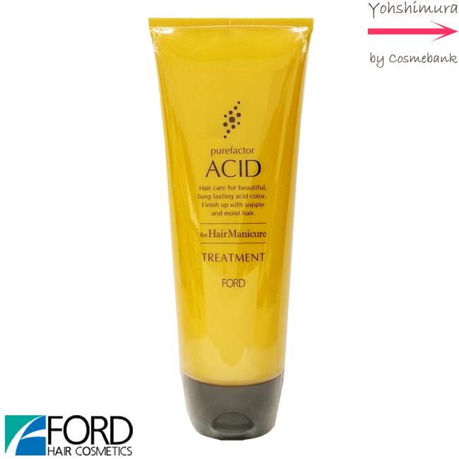 46%OFF FORD HAIR 賜物 COSMETICS Purefactor ACID for Hair Mnicure アシッドカラー 酸性カラー用トリートメント 正規店 230g ピュアファクター ヘアマニキュア長持ち アシッドトリートメント 店販タイプ フォード 酸性カラーの褪色を防ぐ ヘアマニキュア