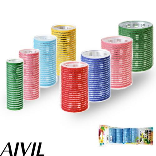 AIVIL THERMO ROLLER MAGIC CURLER 美人巻きを長時間キープ お洒落 21mm 24mm 28mm 32mm 36mm 40mm マジックカーラー 新作続 63mm 三重構造 サーモローラー アイビル プラスティック 48mm 全長 ご希望サイズご選択 よりご選択 44mm アルミ素材