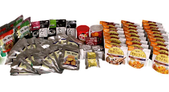 ≪ごはん派!!≫10日分食糧備蓄セット+エコアクア(500ml×72本)