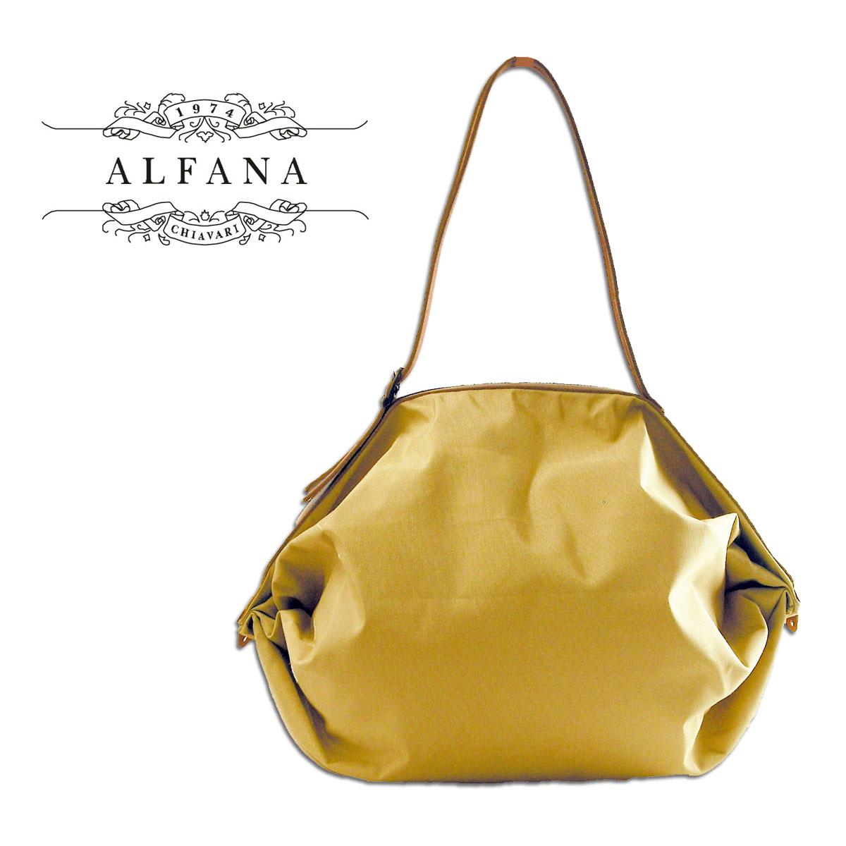 ALFANA/アルファーナ POP CORN58/ポップコーン58 クリーミィーベージュ(65580048)イタリア製 折りたたみ バッグ 旅行用 革製ストラップ あす楽