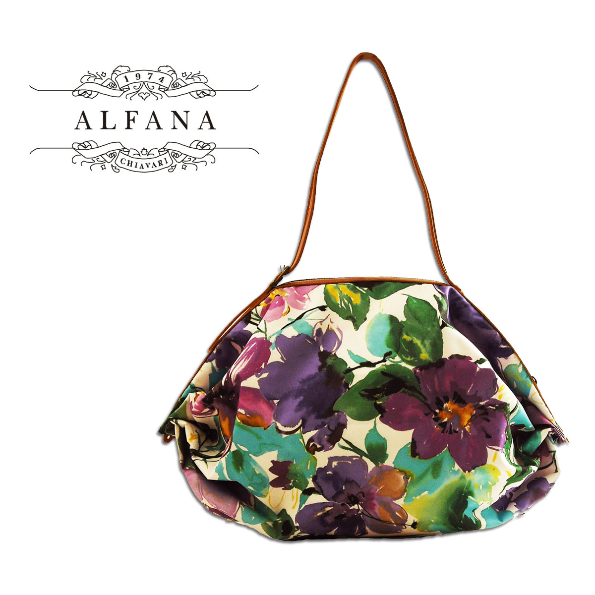 Made in Italy ALFANA / アルファーナ POP CORN58 / popcorn 58 フラワーパープル (65581005 ) foldable bag """"