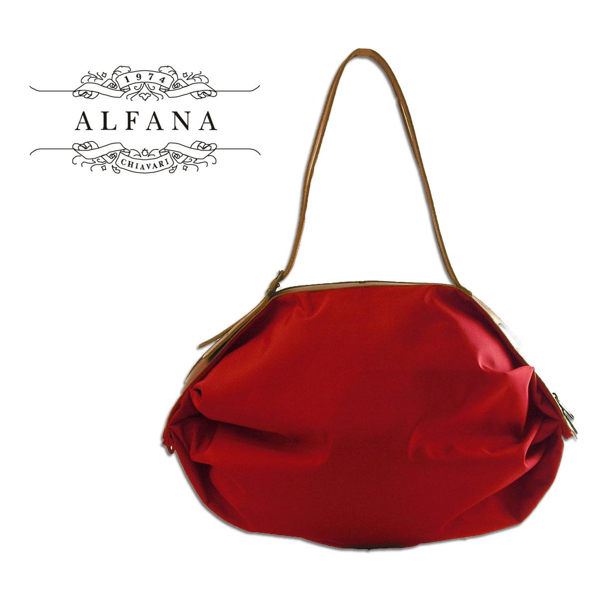 ALFANA アルファーナ POP CORN58 ポップコーン58 ルビンレッド(65580065)イタリア製 折りたためる バッグ あす楽