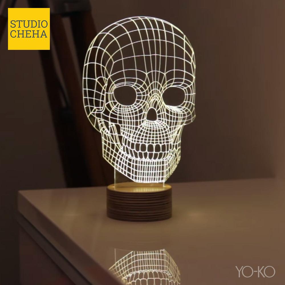 night light table mood bulbing skull lamp skull valving studio cheha led light interior lighting table lamp night interior 480520 p15aug1510p05oct15 rakuten yoko